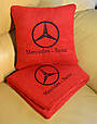 """Автомобильный плед в чехле с логотипом  """"Mercedes"""" цвет на выбор, фото 2"""