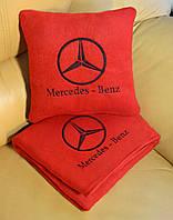 """Автомобильный плед в чехле с логотипом  """"Mercedes"""""""