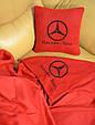 """Автомобільний набір: подушка і плед з логотипом """"Mercedes"""" колір на вибір, фото 9"""