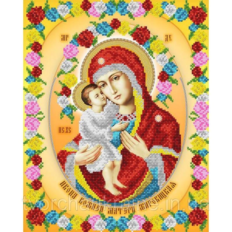 Схема на ткани для вышивания бисером Икона Божией Матери Жировицкая