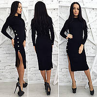 Платье Пуговицы с разрезом 30