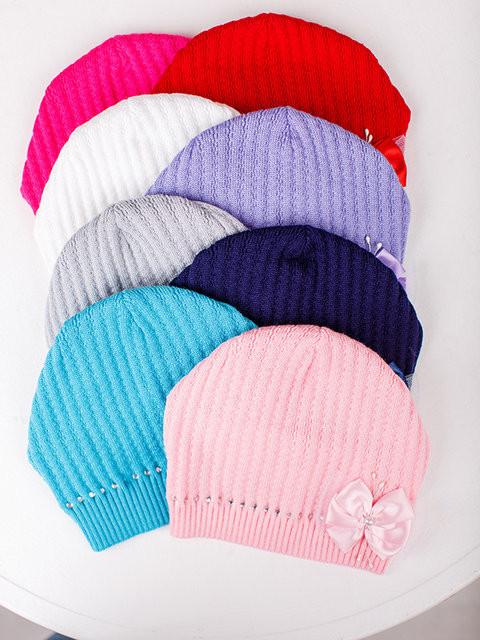 Детская шапка Афина Для девочек, Белый