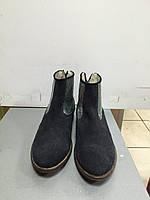 Ботинки  женские демисезонные синие замшевые Meline