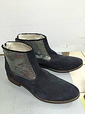 Ботинки  женские демисезонные синие замшевые Meline , фото 2
