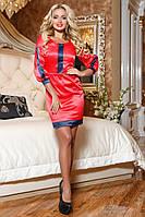 Яркое Атласное Платье Красное  р. M по XXL