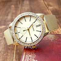 Женские часы Geneva Cristal Gold со стразами