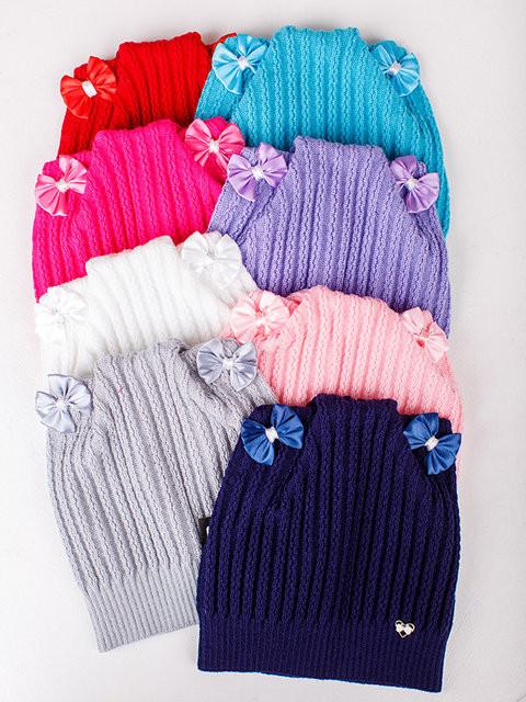 Детская шапка Мэри Для девочек, Белый
