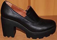 Женские туфли стильные на тракторной подошве, женские туфли от производителя модель ВТ1560, фото 1