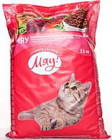 Мяу! Сухой корм для котов, куриный, 11 кг
