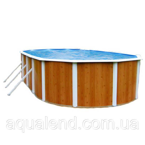 Сборно-щитовой морозоустойчивый овальный бассейн AZURO 5,5 х 3,7 м, высотой 1,2м Mountfield (Чехия)
