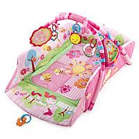Развивающий коврик с дугами «Bright Starts» (9298) Веселый сад (розовый)