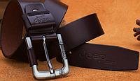 Мужской кожаный ремень. Модель 2142, фото 2