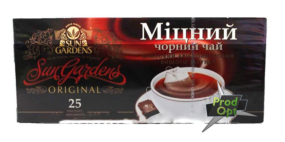 Чай SUN Gardens чорний Міцний 25 пакетів