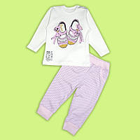 Комплект для малышек Туфельки (джемпер, штанишки)  интерлок