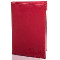Женский кожаный органайзер для документов с отделениями для пластиковых карт и визиток PAUL ROSSI (ПОЛ РОССИ) DNK719-GP-red