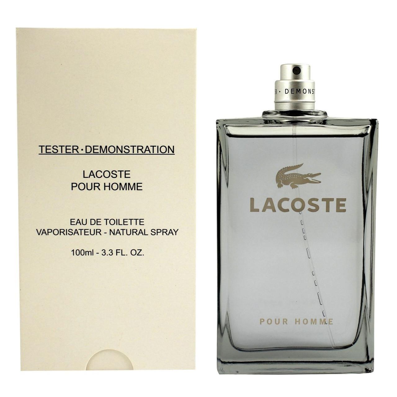 Lacoste Pour Homme туалетна вода 100 ml. (Тестер Лакост Пур Хом)