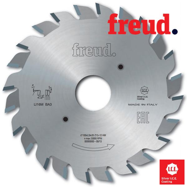 Подрезные пилы  двухкорпусные  100 х 2,8/3,6 х 22    Z = 12+12 (Freud, Италия)
