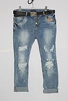 Женские джинсы бойфренд больших размеров Red Sold (код 11126)