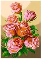 Канва с нанесенным рисунком Розы
