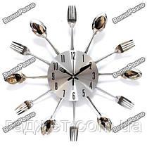 Часы настенные ложки вилки. Кухонные часы, фото 3