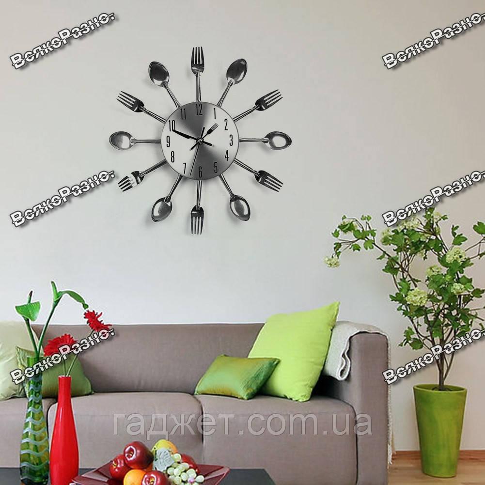 Часы настенные ложки вилки. Кухонные часы