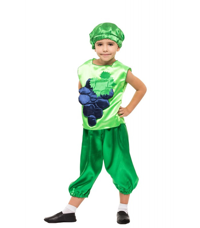 Карнавальный костюм Винограда на праздник Весны (4-8 лет)