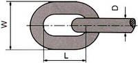 цепь сварная короткозвенная DIN 766