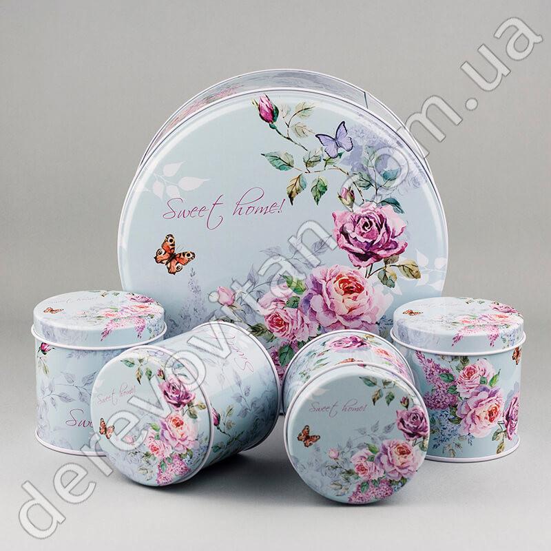 """Коробки для подарков, набор из 5 шт., жестяные  - """"Дерево вітань"""", интернет-магазин в Одессе"""