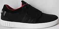 Супер! Adidas А1 2017 кроссовки кеды липучка адидас мужская обувь нубук черные