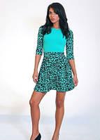 Платье стильное, красивое Бритни размеры 42, 44, 46, 48 бирюзовое