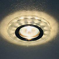 Светильник Feron 8686-2 серебро с led подсветкой, фото 1