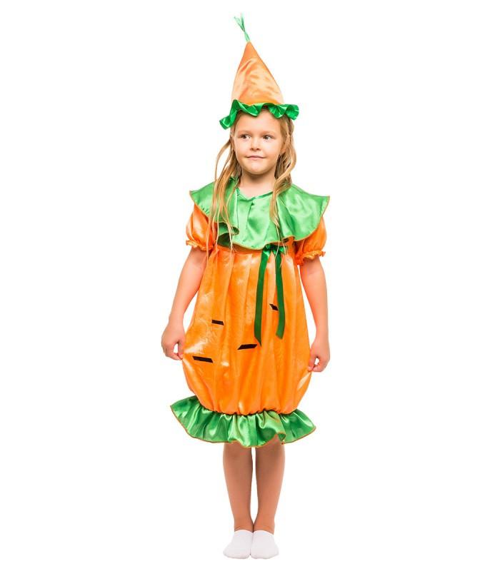 Карнавальный костюм Морковки для девочки на праздник Весны (4-8 лет)