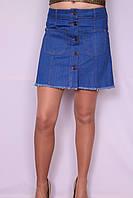 Женская джинсовая юбка трапеция (код )