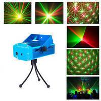 Лазерный проектор, стробоскоп лазер шоу, Диско LASER 6in1