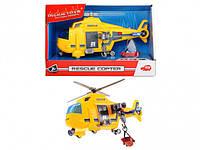 """Функциональный вертолет Dickie Toys """"Спасательная служба"""" с лебедкой, светом и звуком, 18 см (3302003)"""