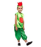 Карнавальный костюм Тюльпана для девочки на праздник Весны (4-8 лет)