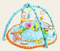 Коврик для малышей 615 с мягкими погремушками на дуге,в сумке 62*49*7см