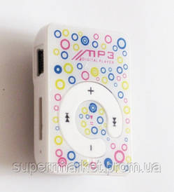 MP3- плеер Atlanfa AT-P24 цветной с прищепкой, white