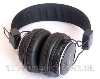 Наушники ATLANFA AT-7611 гарнитура с MP3 FM Bluetooth, черные