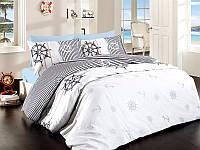 Двуспальный двусторонний евро комплект постельного белья First Choice Deeper, ранфорс, Турция