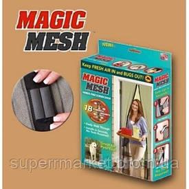 Занавеска москитная Magic Mesh (100см * 210см) в коробке черная