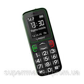 Телефон Sigma Comfort 50 mini 3 Black-Green (бабушкофон) '3