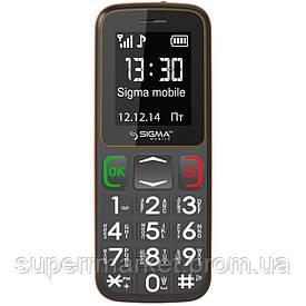 Телефон Sigma Comfort 50 mini 3 Grey-Orange (бабушкофон) '3