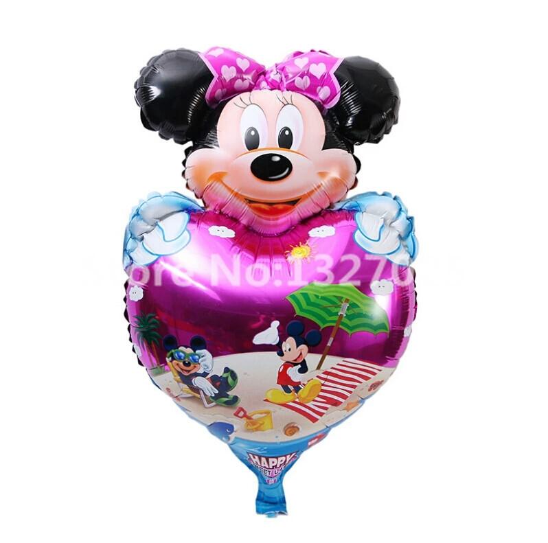 """Большой воздушный шарик """"Минни Маус"""" девочка на сердце 49 × 80 Фигура Фольга"""