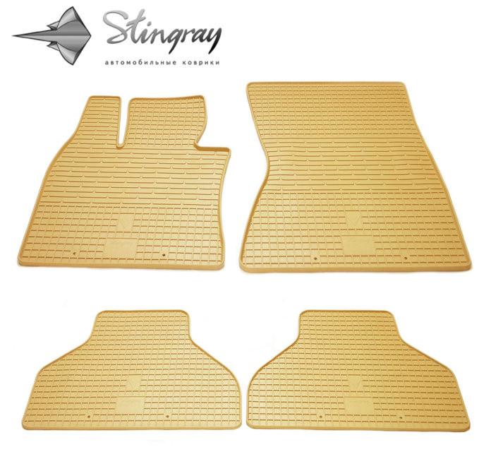 Ковры резиновые в салон BMW X5 (E70) бежевые (4шт) Stingray