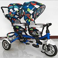 Велосипед трехколесный для двойни Turbo Trike M 3116TW-5A-D колеса резина