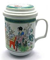 """Чашка заварочная с ситом (330 мл) """"Гейши"""""""