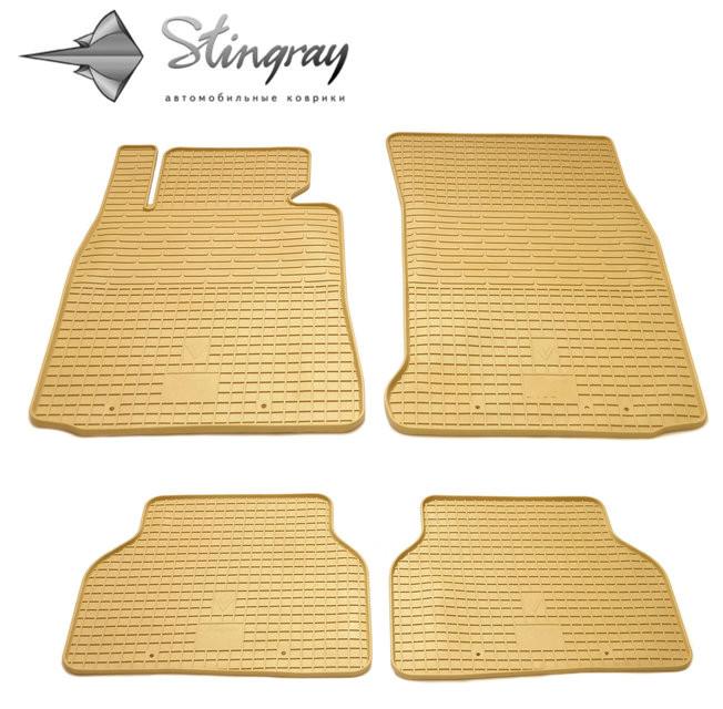 Ковры резиновые в салон BMW 7 (E38) бежевые (4шт) Stingray