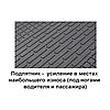 Ковры резиновые в салон BMW 7 (E38) бежевые (4шт) Stingray  , фото 4