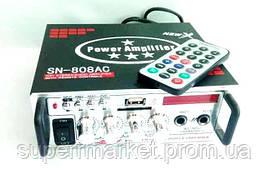 Усилитель звука  ресивер  UKC SN-808AC + Karaoke,  MP3 SD USB AUX FM 12v   220v, фото 2
